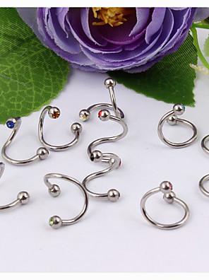 Dame Øjenbrynsmykker / Labret, Lip Piercing Jewelry / Ear Piercing Krystal / Rustfrit Stål Smykker,1pc