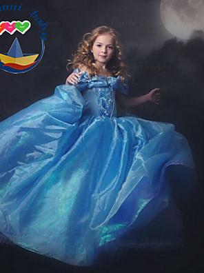 Girl's Summer Princess Short Sleeve Dresses (Cotton Blends)