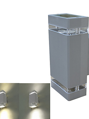 JIAWEN® Grey IP54 Waterproof GU10 8W 3000-3200K/6000-6500K Warm White/White LED Wall Lights (AC 85-265V)