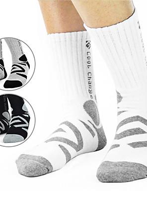 גרביים אופנייים נושם / מגביל חיידקים לגברים כותנה / Coolmax
