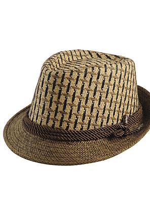 כובע קלושה\עם שוליים רחבים גברים וינטאג' / יום יומי,קש חורף / קיץ / כל העונות