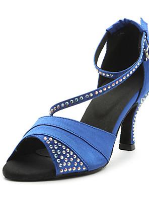 Testreszabott Női szatén Crystal Boka Latin Dance szandál cipő (több szín)
