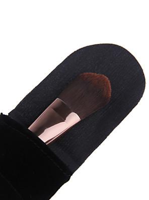 lashining pincel de base profissional dom ferramenta maquiagem anti-alérgico macio fibra antibacteriana uma flanela preta