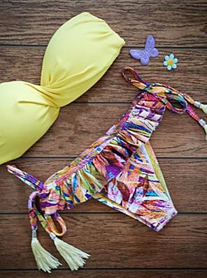 Rojtos/Egyszínű Női Bikini , Push-up/Merevítős Melltartó Nejlon