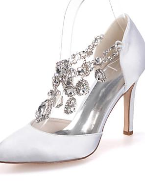 Sort / Blå / Rosa / Lilla / Rød / Elfenbensfarvet / Hvid / Sølv / Champagne - Dame - Bryllup Sko - Bryllup / Fest/aften - høje hæle -