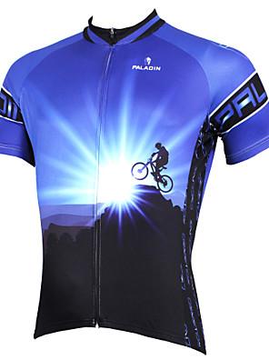 PALADIN® Camisa para Ciclismo Homens Manga Curta MotoRespirável / Secagem Rápida / Resistente Raios Ultravioleta / Compressão / Materiais