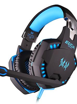 משחק מחשב רכוב ראש g2100 אוזניות סטריאו אוזניות של מחשב