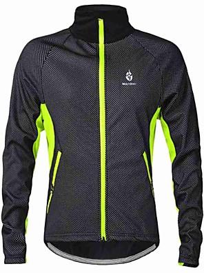 WOLFBIKE® ג'קט לרכיבה לגברים שרוול ארוך אופניים שמור על חום הגוף / עמיד / בטנת פליז / חומרים קלים / כיס אחוריג'קט / סווטשירט / מעילי רוח