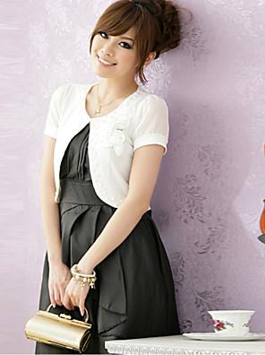 mariage enveloppe manches courtes en mousseline de soie / polyester boléros élégantes noir / blanc / rose boléro shrug