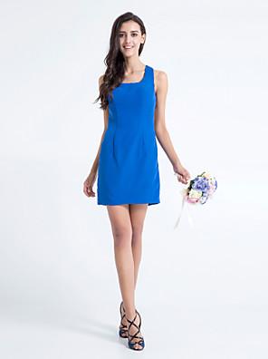 Lanting Bride® Krátký / Mini Šifón Šaty pro družičky - Pouzdrové Čtvercový Větší velikosti / Malé s