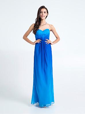 TS couture® 바닥 길이 쉬폰 들러리 드레스 - 컬러 그라데이션 시스 / 골 십자가와 열 아가