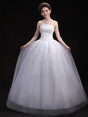 Plesové šaty Svatební šaty Na zem Nabraný Tyl s