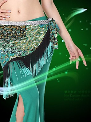ריקוד בטן חגורה בגדי ריקוד נשים ביצועים / אימון ספנדקס גדיל (ים) חלק 1 בלי שרוולים נפול חגורת מותניים Around 150cm