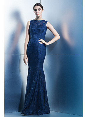 TS Couture® Formal Evening Dress Trumpet / Mermaid Jewel Floor-length Lace with Lace