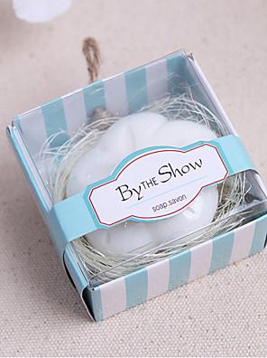 100% natuurlijke ingrediënten Praktische Gunsten-1 Bath & Zeep Bloemen Thema Wit 6*6*3.5cm