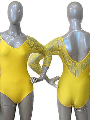 Balé Malha Mulheres / Crianças Actuação / Treino Nailon / Renda / Licra 1 Peça Malha Collant As the Size Chart