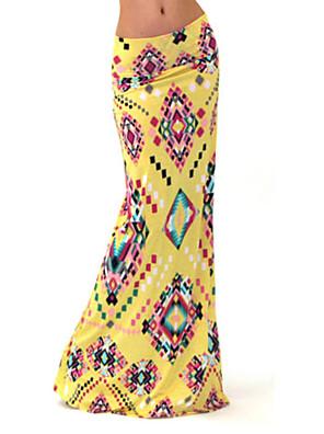 Katoen / Polyester - Rekbaar - Bodycon / Maxi - Maxi - Vrouwen - Rokken