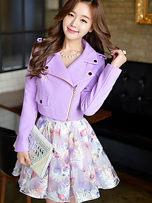 Pink Doll®Women's Casual/Party Long Sleeve Trench Short Coat