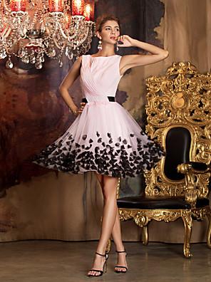 Cocktailparty / Ball / Festtage / Firmenfeier / Familientreffen Kleid - Vintage inspiriert / Elegant Eng anliegend Schmuck Kurz / Mini