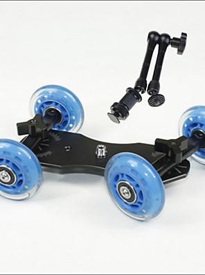tabletop profissional DSLR câmera dolly controle deslizante skater caminhão roda estabilizador para 5d2 vídeo eos mãos mágicas 11