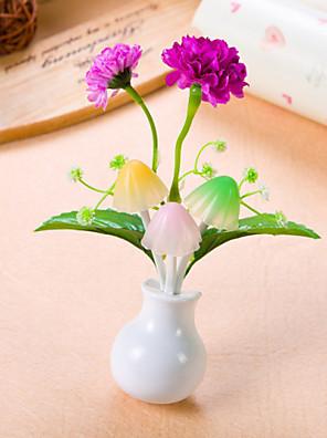 flores bonitos controle de indução de luz LED noite luz lâmpada noite de Natal presente de aniversário (cor aleatória)