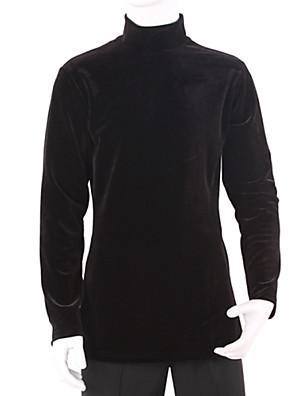 ריקוד לטיני חלקים עליונים בגדי ריקוד גברים אימון קטיפה עטוף חלק 1 שרוול ארוך עליון M:74 cm / L:76 cm / XL:78 cm