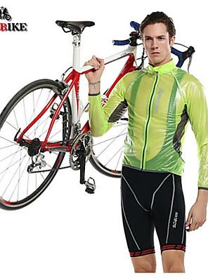KINGBIKE® ג'קט לרכיבה לגברים שרוול ארוך אופנייםעמיד למים / נושם / עמיד אולטרה סגול / מוגן מגשם / הגנה בפני קרינה / לביש / חדירות גבוהה