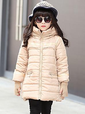Girl's Black / Red / Beige Down & Cotton Padded , Dresswear Polyester Winter