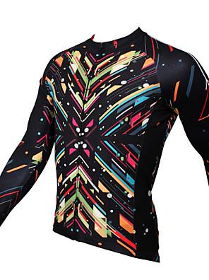 PALADIN® חולצת ג'רסי לרכיבה לגברים שרוול ארוך אופנייםנושם / ייבוש מהיר / עמיד אולטרה סגול / דחיסה / חומרים קלים / כיס אחורי / מפחית