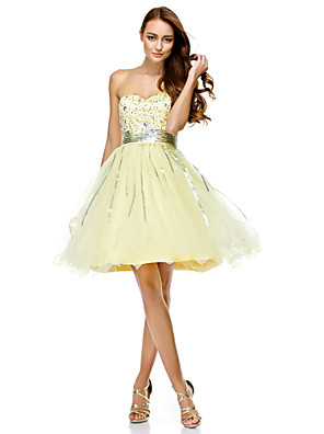 TS Couture® Cocktail Party Dress A-line Sweetheart Knee-length Tulle with Sequins