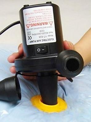 elektrické čerpadlo pro vakuové kompresní pytle gumovém člunu