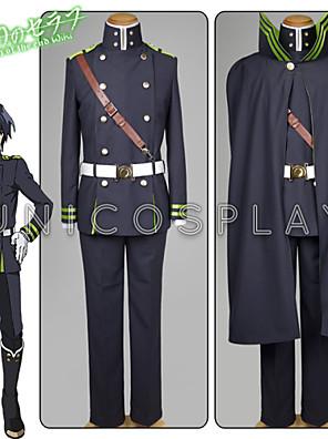 Inspirovaný Hunter X Hunter Yui Anime Cosplay kostýmy Cosplay šaty Jednobarevné CzarnyVrchní deska / Tričko / Rukavice / Pásek / Hodiny /