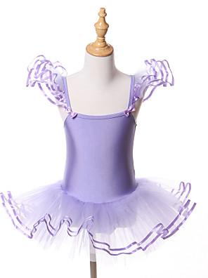 Balé Tutos e Saias / Vestidos / Tutus Crianças Actuação / Treino Elastano / Tule Arco(s) 1 Peça Sem Mangas Halloween / Princesa Vestidos