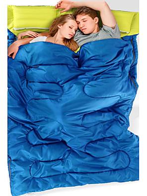 Saco de dormir Retangular Casal (L200 cm x C200 cm) +5°C~+15°C Algodão 180cm+30cm X 145cmEquitação / Campismo / Praia / Viajar / Caça /