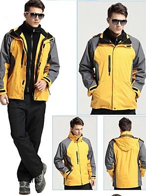 טיולי טבע ג'קט / מעילי פליז / ז'קט עם שכבה חיצונית רכה / ז'קטים לחורף / צמרות לגבריםעמיד למים / נושם / ייבוש מהיר / רוכסן קדמי / עמיד /
