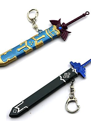 נשק / חרב קיבל השראה מ The Legend of Zelda קוספליי אנימה / משחקי וידאו אביזרי קוספליי חרב כחול / אפור סגסוגת זכר