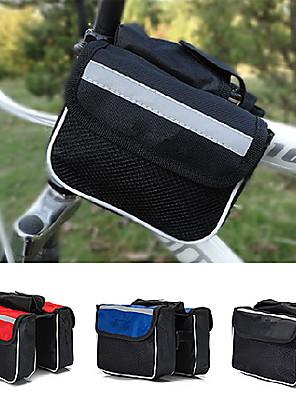 תיק אופניים 2Lתיקים למסגרת האופניים עמיד למים / מוגן מגשם / ניתן ללבישה / קומפקטי תיק אופניים ניילון / קנבס / Terylene תיק אופנייםלטייל /
