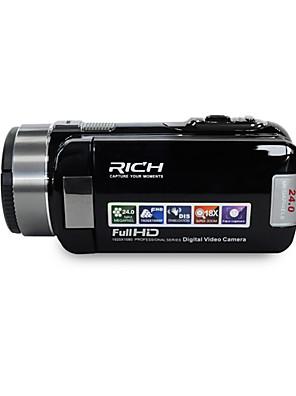 """rich® hd-1000 HD 1080p pixel 13 megapixel, 16x zoom 3 """"LCD képernyő Full HD digitális fényképezőgép videokamera"""
