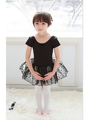 """בלט שמלות בגדי ריקוד ילדים ביצועים כותנה / טול קפלים / מנוקד חלק 1 שרוול קצר שמלות inch:M:17.3"""",L:18.5"""",XL:19.5"""",XXL:20.5"""""""
