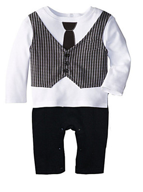 2016 New Newborn Baby Boys Rompers Clothing Toddler One-pieces Jumpsuit Tie Gentleman Leisure