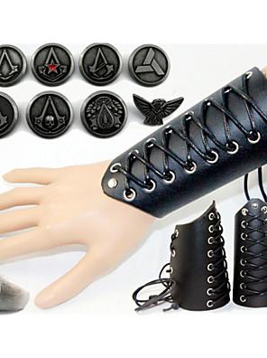 תכשיטים קיבל השראה מ Assassin's Creed קוספליי אנימה / משחקי וידאו אביזרי קוספליי תג / טבעת שחור סגסוגת / עור פטנט זכר