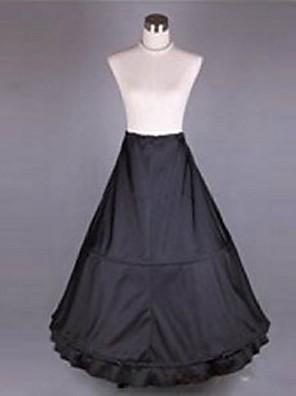Spodničky Trumpetový / mořská panna / Extra dlouhá vlečka Po lýtka 1 Polyester Czarny