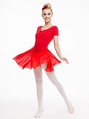בלט שמלות בגדי ריקוד נשים / בגדי ריקוד ילדים ביצועים שיפון / כותנה / לייקרה חלק 1 שמלות As the Size Chart
