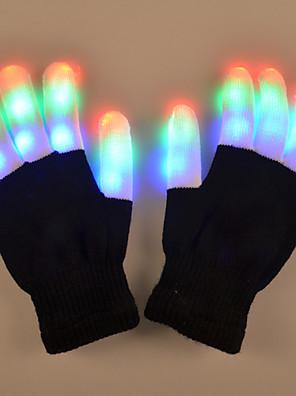 מתנת חג אהבת יצירתי אבזרי הבגדים הצבעוניים ריקוד כפפות אור פאייטים מנורת אור הובילה