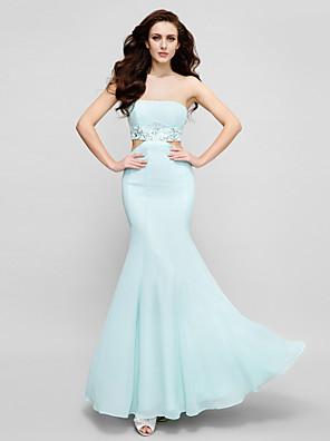 ts couture® muodollinen iltapuku plus koko / pieni / vahvike koru kokopitkiin chifongista crystal yksityiskohtaisesti