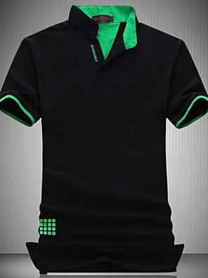 Pánské Bavlna / Polyester Denní nošení / Větší velikosti Jednobarevné Polo Krátký rukáv
