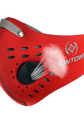 מסכת פנים אופנייים נושם / עמיד / עמיד לאבק / מגביל חיידקים יוניסקס אדום / אפור / שחור / כחול / כתום ניילון / Chinlon