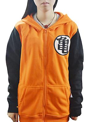 geinspireerd door Dragon Ball Son Goku Anime Cosplay Kostuums Cosplay Sweaters Print  Geel Lange mouw Jas
