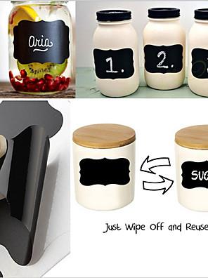 kréta toll chalkboard Ragacsos címkék vinil konyhai edény fala csésze üveg tervező tükör dekor matricák címkék, meg az 36