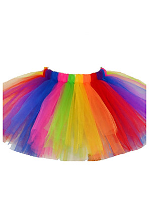 Girl's Holiday Color Block Dress / Skirt,Cotton / Polyester Summer / Spring / Fall Multi-color